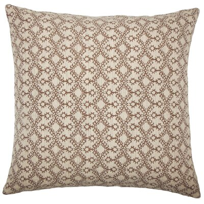 Brownesville Ikat Floor Pillow Color: Brown