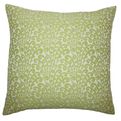 Perino Floral Floor Pillow Color: Green