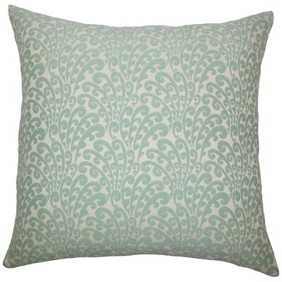 Perino Floral Floor Pillow Color: Aqua