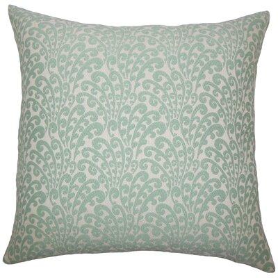Perino Floral Floor Pillow Color: Aqua