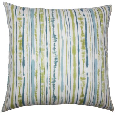 Kidwell Striped Floor Pillow Color: Aqua/Green