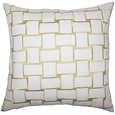 Tyrek Geometric Floor Pillow Color: Peridot