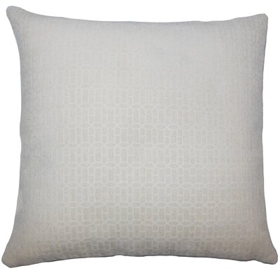 Julius Geometric Floor Pillow Color: Natural