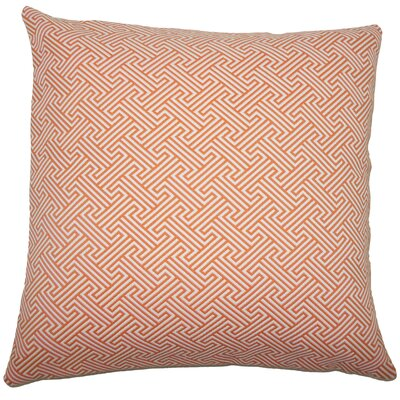 Fullerton Geometric Floor Pillow Color: Orange