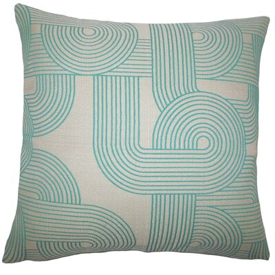 Deandre Geometric Floor Pillow Color: Turquoise