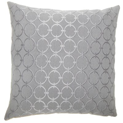 Acevedo Geometric Floor Pillow Color: Graphite