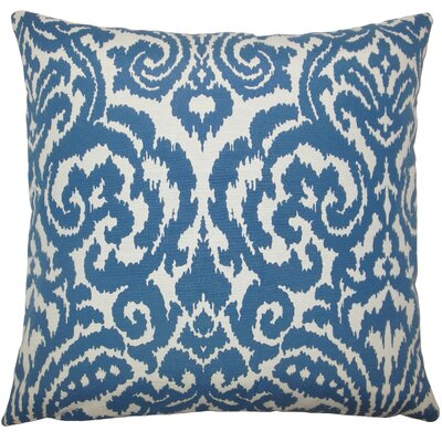 Canonbury Ikat Floor Pillow Color: Aegean