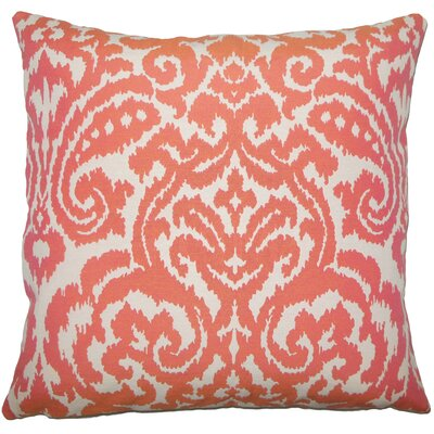 Canonbury Ikat Floor Pillow Color: Coral