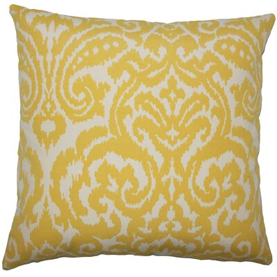 Canonbury Ikat Floor Pillow Color: Pollen