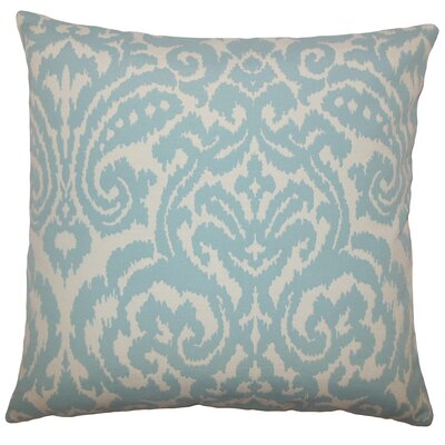 Canonbury Ikat Floor Pillow Color: Sky