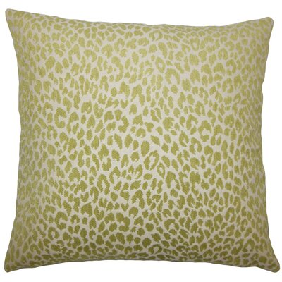 Teressa Animal Print Floor Pillow Color: Kiwi