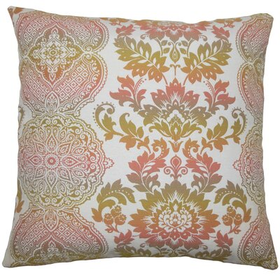 Dreyer Damask Floor Pillow Limestone Color: Primavera