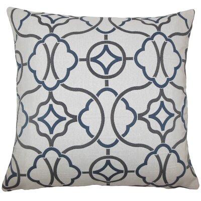 Lucia Geometric Floor Pillow Color: Indigo