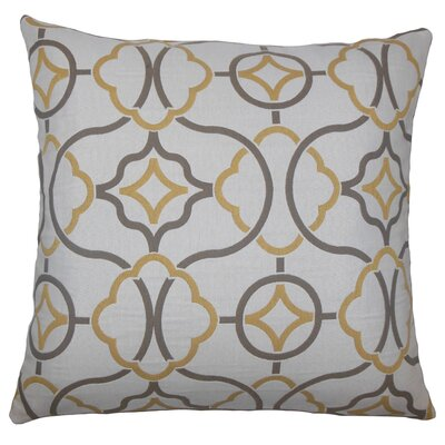 Lucia Geometric Floor Pillow Color: Sandstone