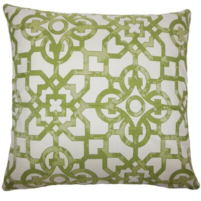 Dougherty Geometric Floor Pillow Color: Fig