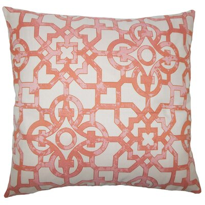 Dougherty Geometric Floor Pillow Color: Geranium