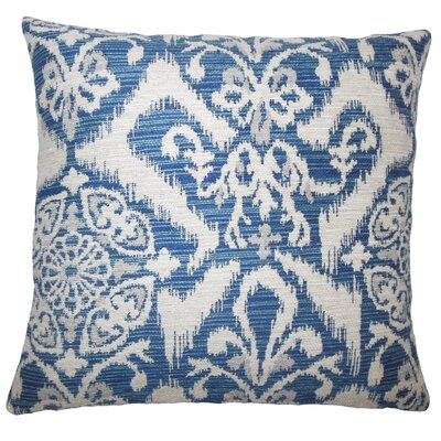 Merriam Ikat Floor Pillow Color: Indigo