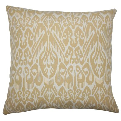 Michael Ikat Floor Pillow Color: Barley