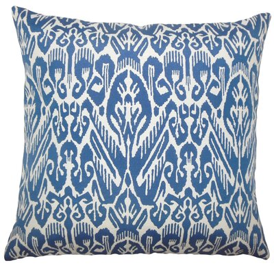 Michael Ikat Floor Pillow Color: Indigo
