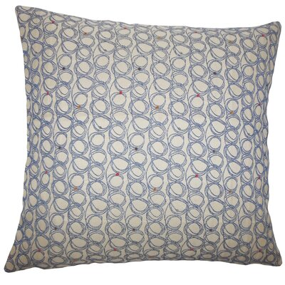 Hakeem Geometric Floor Pillow Color: Blueberry
