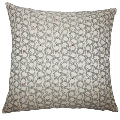 Hakeem Geometric Floor Pillow Color: Licorice