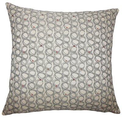 Hakeem Geometric Floor Pillow Color: Licorice