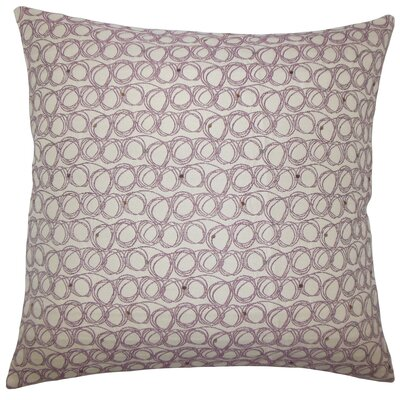 Hakeem Geometric Floor Pillow Color: Plum