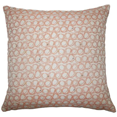 Hakeem Geometric Floor Pillow Color: Tangerine