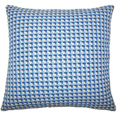 Reuben Geometric Floor Pillow Color: Bluebell