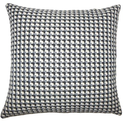 Reuben Geometric Floor Pillow Color: Domino