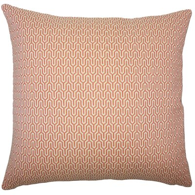 Perry Geometric Floor Pillow Color: Melon