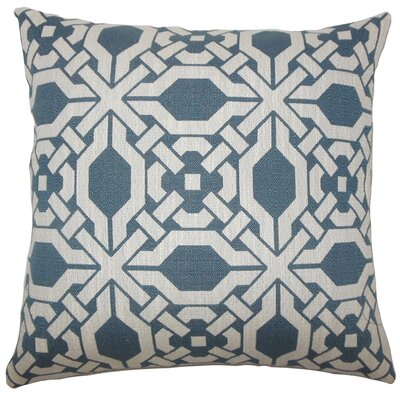 Celestyna Geometric Floor Pillow Color: Pacific