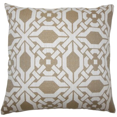 Celestyna Geometric Floor Pillow Color: Wicker