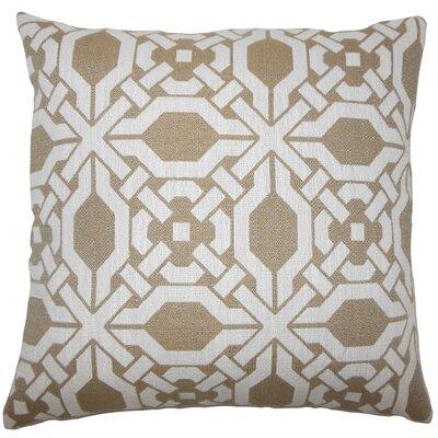 Celestyna Geometric Floor Pillow Color: Wicker