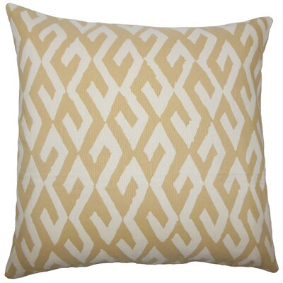 Dodson Geometric Floor Pillow Color: Alabaster