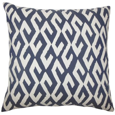 Dodson Geometric Floor Pillow Color: Indigo