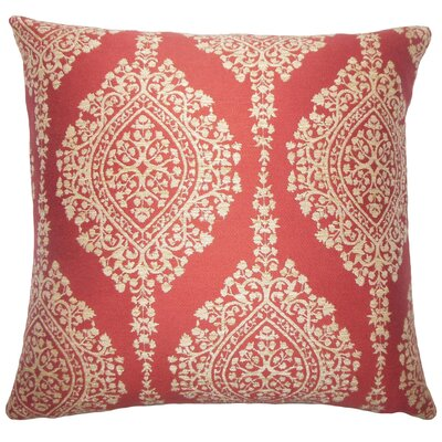 Dodsworth Damask Floor Pillow Color: Cayenne