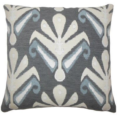 Donoho Ikat Floor Pillow Color: Stone
