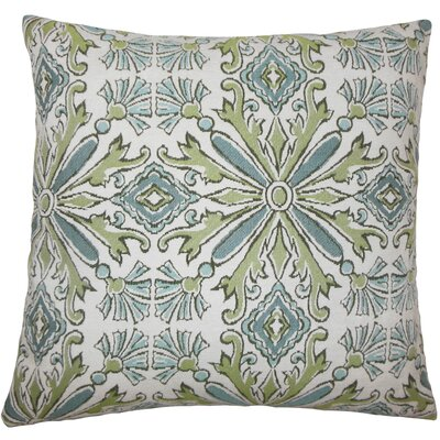 Doster Damask Floor Pillow Color: Aqua/Green