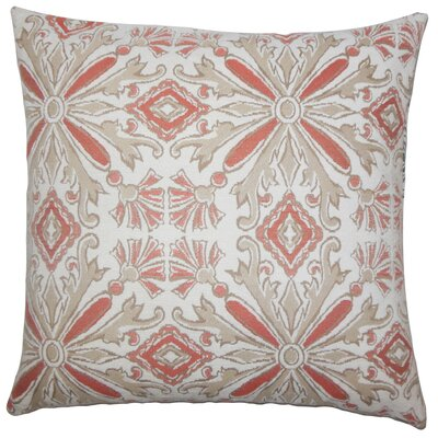 Doster Damask Floor Pillow Color: Coral