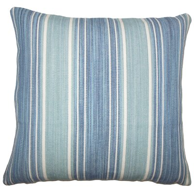 Lazzaro Striped Floor Pillow Color: Turquoise