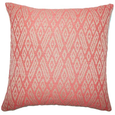 Diondre Ikat Floor Pillow Color: Cayenne