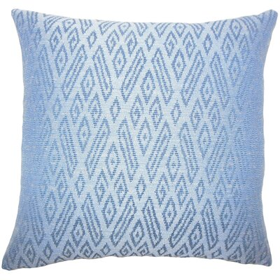 Diondre Ikat Floor Pillow Color: Lapis