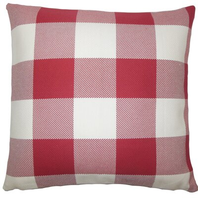 Sabrina Plaid Floor Pillow Color: Chili