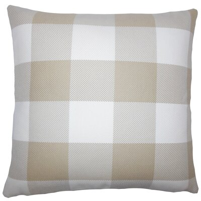 Sabrina Plaid Floor Pillow Color: Sesame