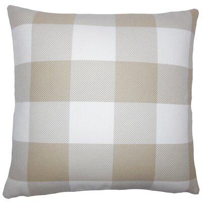 Sabrina Plaid Floor Pillow Color: Sesame