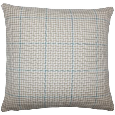 Chaz Houndstooth Floor Pillow Color: Bamboo