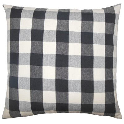 Montreuil Plaid Floor Pillow Color: Black/White
