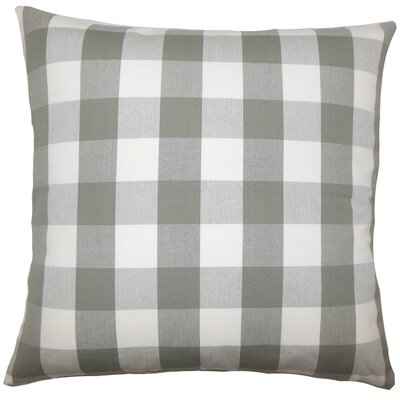 Montreuil Plaid Floor Pillow Color: Iron