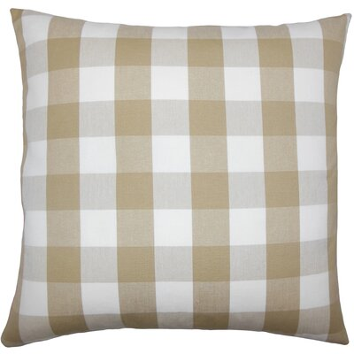Montreuil Plaid Floor Pillow Color: Khaki